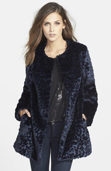 Sam Edelman 'Charles' Leopard Jacquard Faux Fur Topper available at #Nordstrom