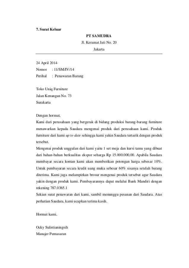 Contoh Surat Follow Up Penawaran Download Kumpulan Gambar