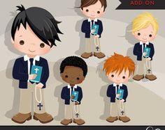 Gráfico primera comunión para niños. Lindos personajes de por MUJKA