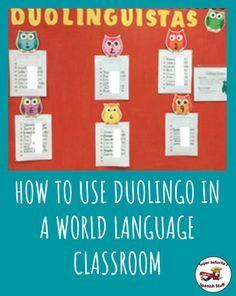 Duolingo ideas. No prep, time filler!