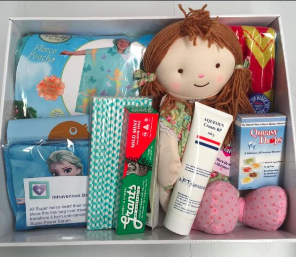 Magical Princess Kid's Chemo Kit. Because every magical princess needs her magic powers. It contains, A ponco/blanket, Plush toy/doll heat pack, Extra soft Toothbrush and toothpaste, Wonder woman socks, Straws IV bag cover, #Fully sick bags, Queasy drops/pops  All for only $99 from www.practicalcare.com.au