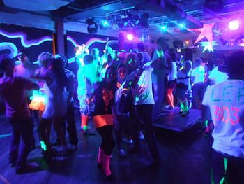 Glow in the dark neon rave outfits