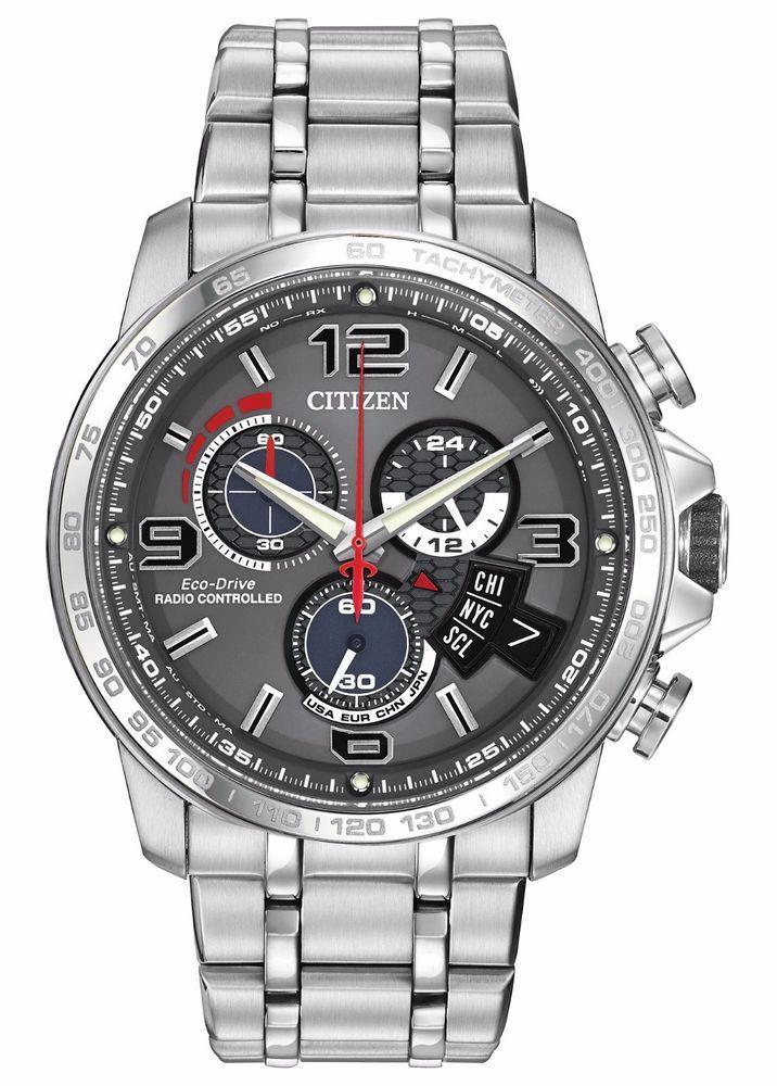 Citizen Eco Drive Men S A T Chronograph Alarm Grey Dial 44mm Watch By0100 51h Estilo De Hombre Reloj Relojes De Lujo