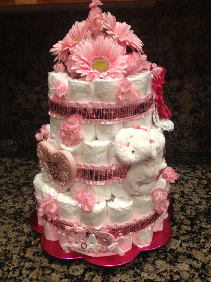 Sweet Baby Girl Diaper Cake Little Bundles of Joy ...
