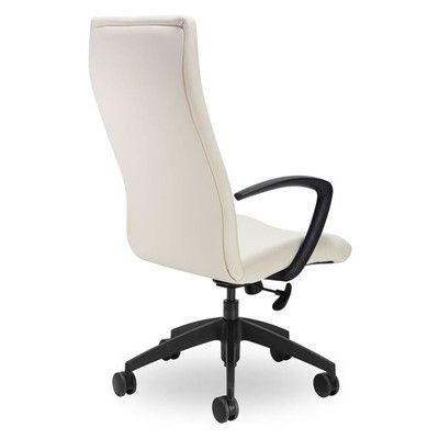 Seating Inc Fit High-Back Executive Chair Arms: T-Style Flat Height Adjustable, Seat Mechanism: Multi Locking Tilt, Upholstery: Grey
