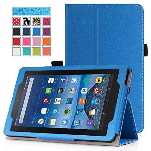 Fire 7 2015 Case - MoKo Slim Folding Cover for Amazon Kindle Fire 7 inch Display Tablet (5th Generation - 2015 Release Only), BLUE, http://www.amazon.com/dp/B014KP7APS/ref=cm_sw_r_pi_awdm_-qrkwb0117RNF
