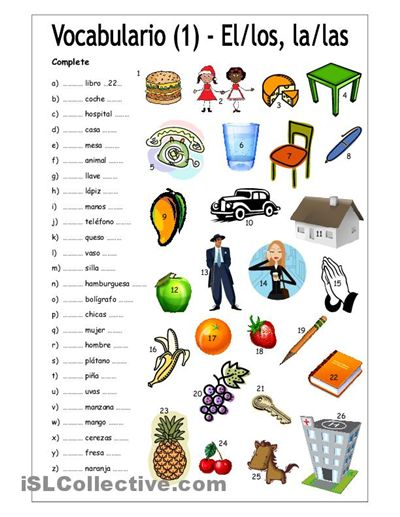 Los articulos. Re-pinned by http://www.Basic-Spanish-Words.com/