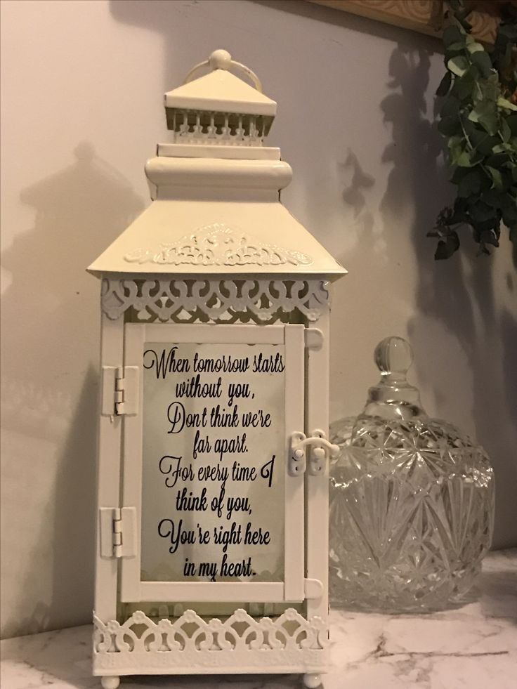 8 best someone we love is in heaven memory lanterns images on pinterest heaven heavens and lamps. Black Bedroom Furniture Sets. Home Design Ideas