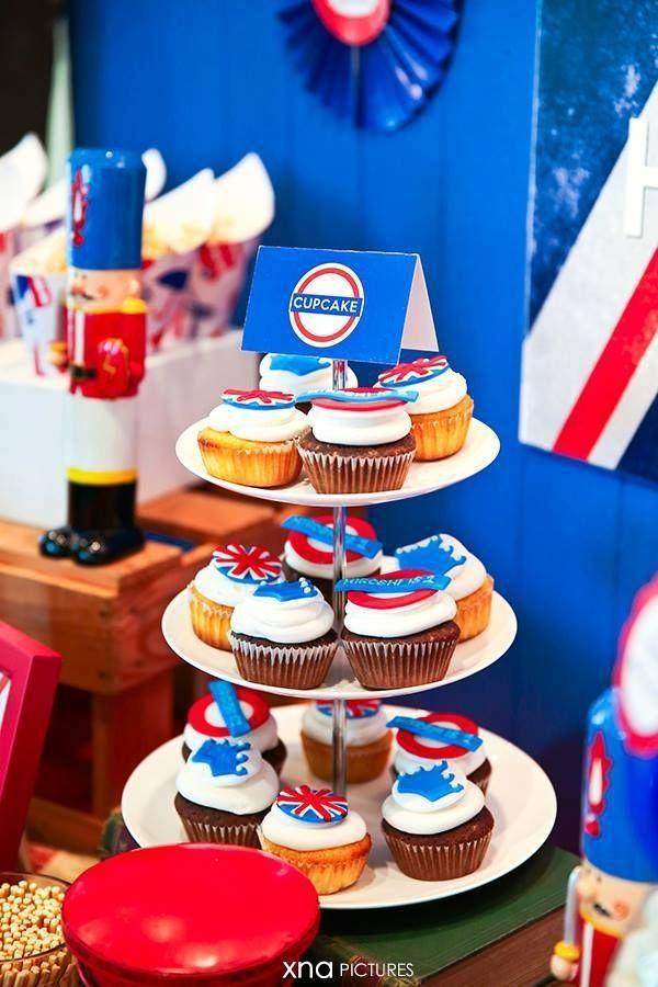 Boys London Birthday Party Cupcakes Spaceshipsandlaserbeams