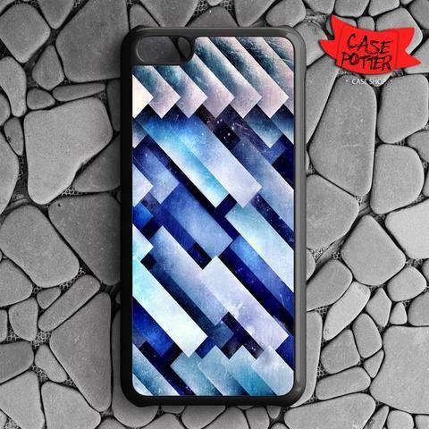 Blue Pattern Texture iPhone 5C Black Case