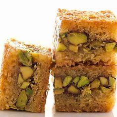 Baklava with a �hefty helping of pistachios.. Arabian Baklava Recipe from Grandmothers Kitchen.
