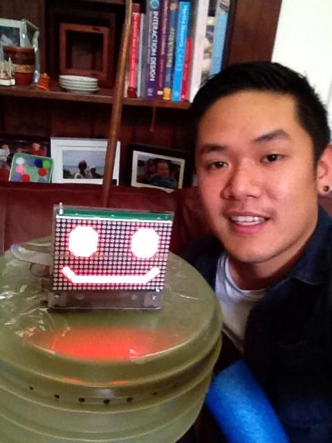Retweeted by hitchBOT  | Jacky Au Duong @jauduong • July 17 • I don't usually take selfies, but I just had to when I met hitchBOT #hitchBOT #tbt