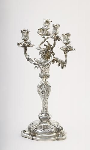 Silver candelabra c.1740 French