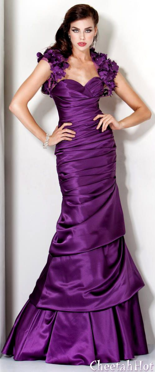 606 best Wedding - Purple images on Pinterest | Bridal gowns ...