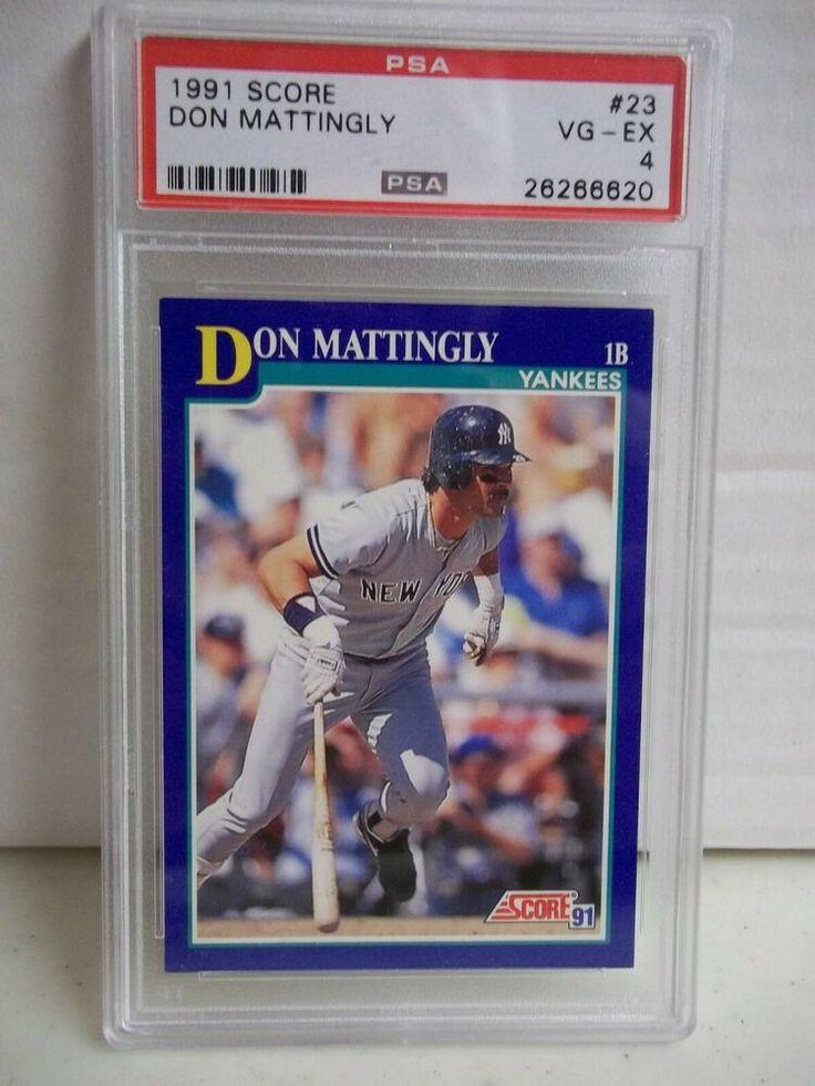 1991 Score Don Mattlingly PSA EXMT 4 Baseball Card 23