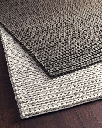 Braid-Textured Rug, 5\' x 8\' at Horchow.