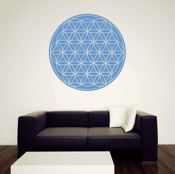 Cute Details zu Wandtattoo Aufkleber Blume des Lebens heilige Geometrie Energie Symbol Schutz