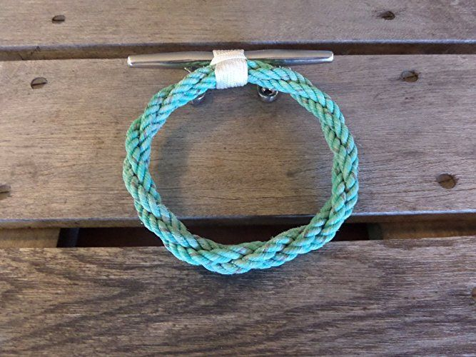 Amazon.com: Knotted Rope Ring Towel Rack Holder on Stainless Steel Cleat Nautical or Beach Style: Handmade