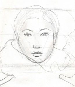 Laura Volpintesta fashion face sketch #online fashion illustration and design INTENSIVE immersion course experience! Check it out!! I'm here for you. $750 tuition for a limited time includes your art supplies for fashion designers kit shipped to you. 15 week online semester created by Parsons fashion faculty of 17 years.