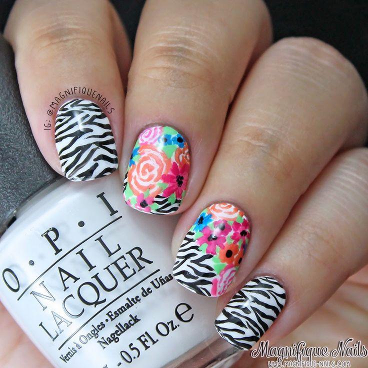 Magically Polished  Nail Art Blog : Alphabet Nail Art Challenge: Z for Zebra