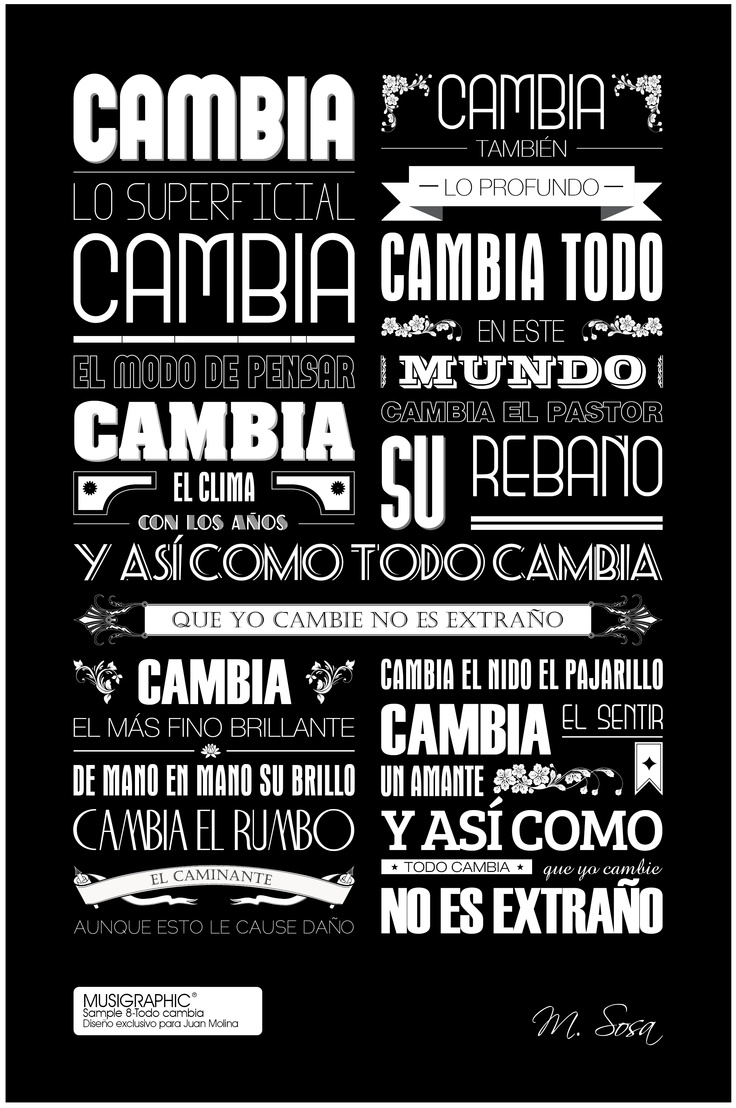 Sample 8. Todo Cambia (M. Sosa)  Diseño exclusivo para Juan Molina