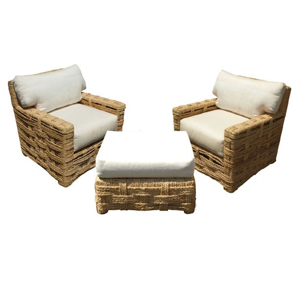 metro retro furniture rope chair and ottoman MidCentury Retro