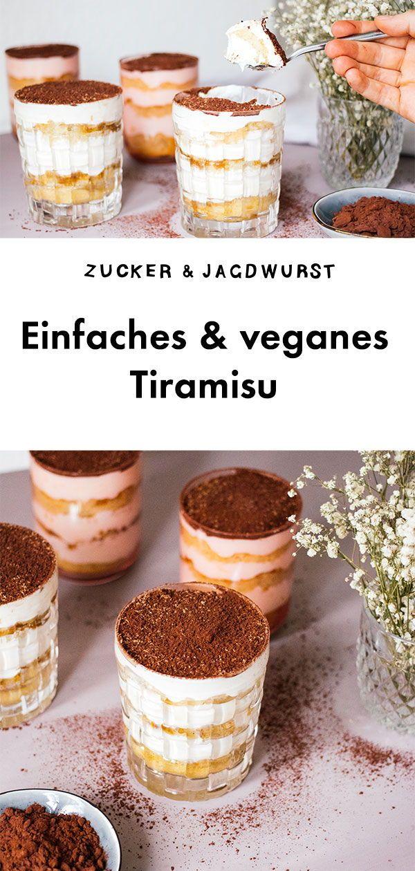 Veganes Einfaches Tiramisu Rezept Veganer Nachtisch Vegane Desserts Tiramisu Rezept
