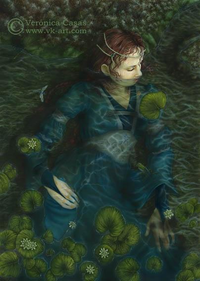 Ophelia -- by Verónica Casas  www.vk-art.com
