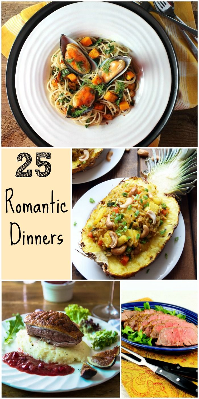 25 romantic dinners to fall in love all over again for Romantic dinner for 2 recipes