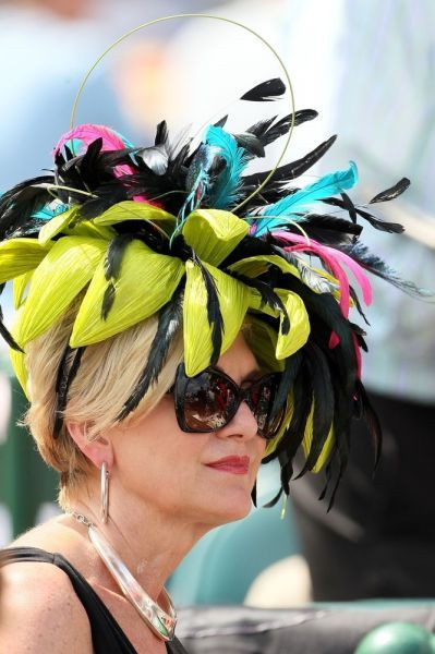 Hat at the Kentucky Derby