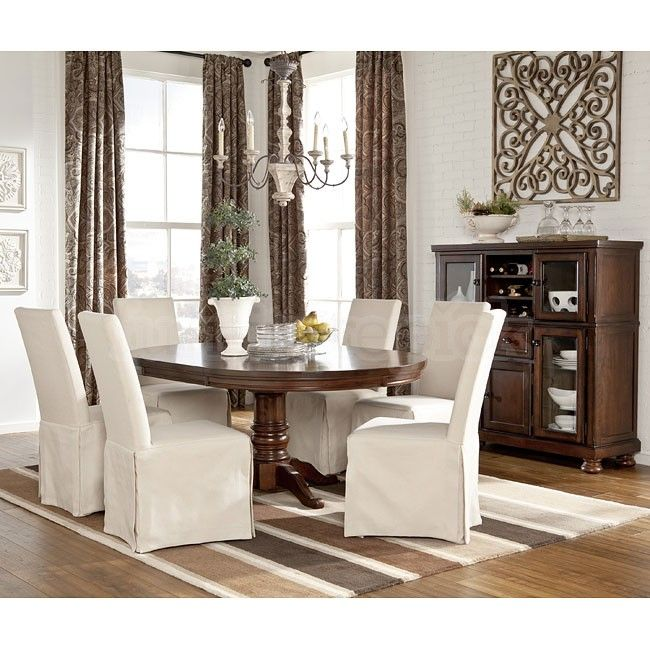 this ashley porter dining set makes for a nice traditional