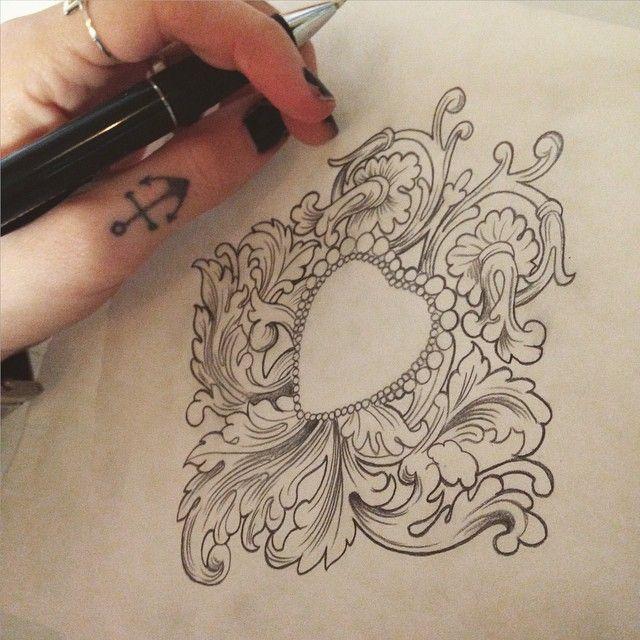 Tattoo sketch by callyjoart