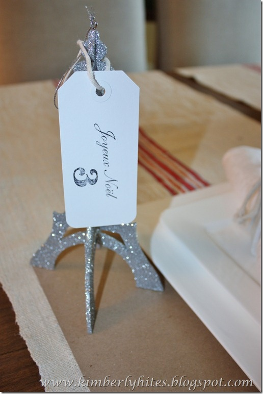 Awesome Dinner Party Name Ideas Part - 12: Use Christmas Ornaments All Year Round! Kim Repurposed Our Glittered Eiffel  Tower Ornaments As Name. Name TagsThemed Dinner PartiesWedding ...