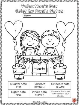 VALENTINE'S DAY COLOR by MUSIC SYMBOL GLYPHS   This set contains 26 VALENTINE'S DAY Color by Music Symbols **Uses North American terminology**