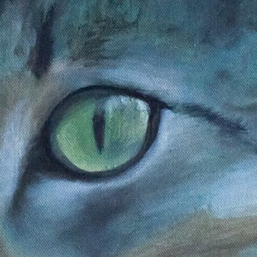 Garden lady (detail) oilpainting on the canvas