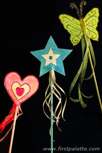 make Fairy Wand craft with butterflies/stars/etc. and dowel rods with ribbons.