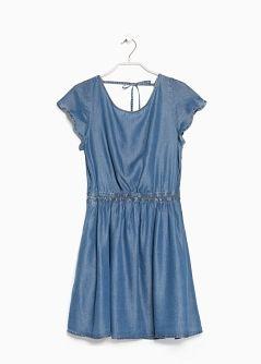 Vestido tencel folho - MNG