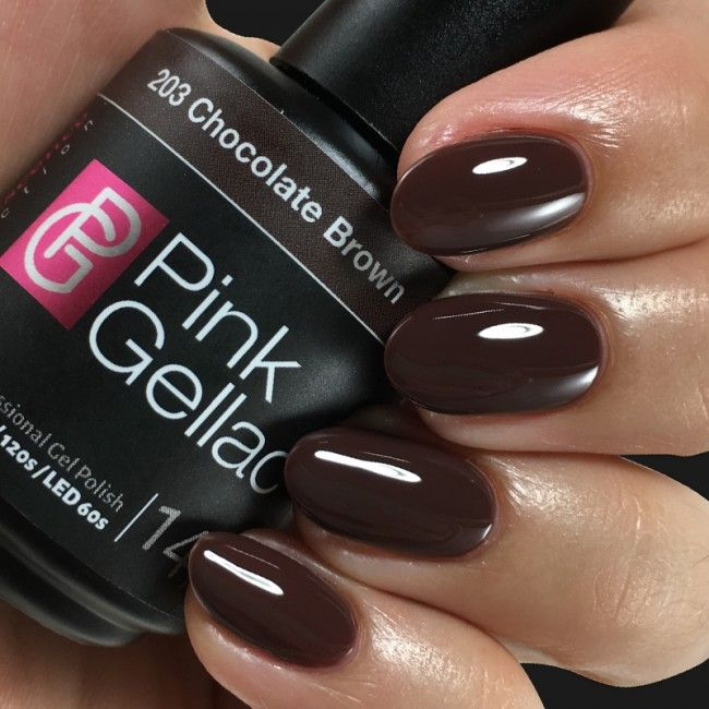 Pink Gellac Gel Nagellak Kleur 203 Chocolate Brown