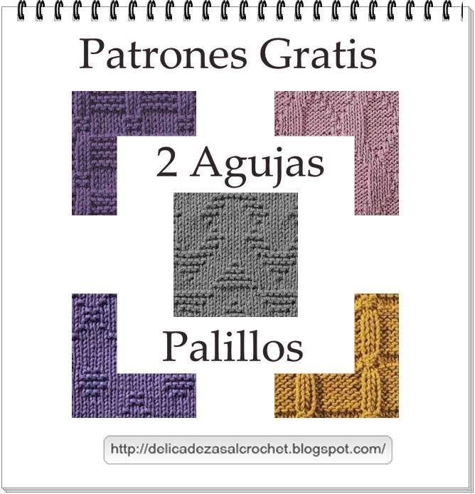 Delicadezas en crochet Gabriela: Patrones con muestras tejidas en dos agujas más el tutorial para aprender a leer diagramas