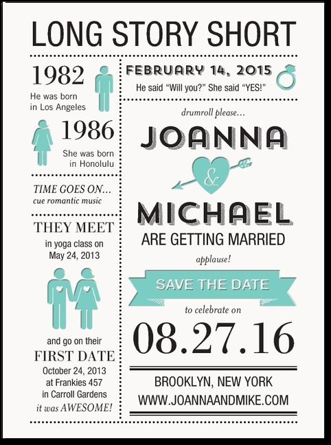 This Infographic save the date is everything you could ever need! #somethinggoldweddings