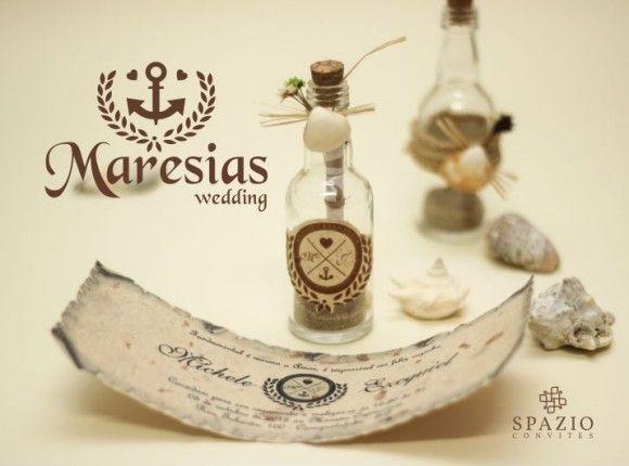 Convite de Casamento na Praia, garrafinha com areia e concha, modelos Praiano, na spazio Convites http://spazioconvites.com.br/convites/