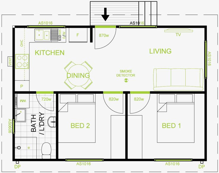 17 best ideas about granny flat plans on pinterest for Floor plan granny flat