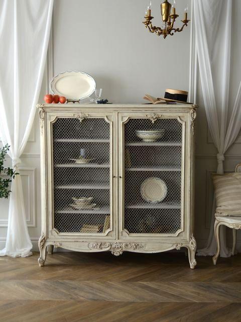 antique france french interior furniture cabinet painted home decor アンティーク グリア―ジュ キャビネット 家具 フレンチ インテリア ペイント シャビーシック