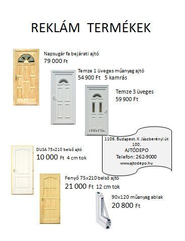 Ajtódepó.hu - Ablakdiszkont - Árnyékolástechnika - Fa ablakok - Fa bejárati ajtók - Fa beltéri ajtók - Fém bejárati ajtók - Műanyag nyílászárók - Tetőablakok - Tűzgátló ajtók - Olcsó ablak - Ablak - Fa ablak - Bejárató ajtó