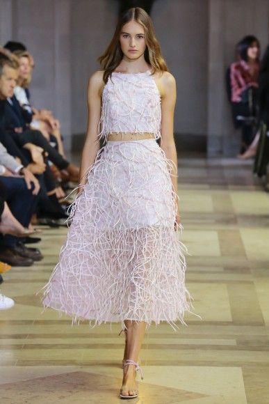 """Always leaving, in her words, """"something for the imagination,"""" Carolina Herrera's #SS16 collection is full of allure, illusion and sensuality."""