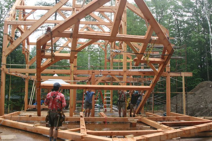 Timber frame house layouts