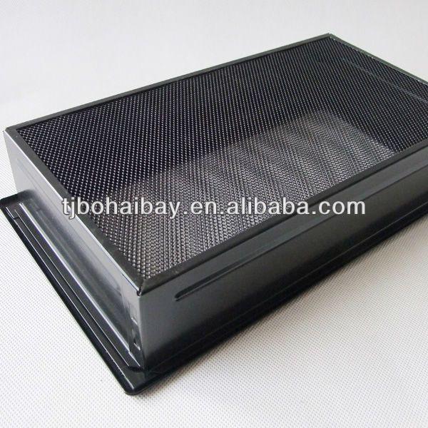 bhb черный камин двойной вентиляцией решетки