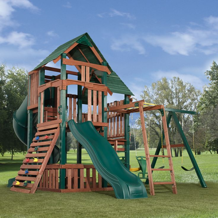 17 best images about swing set plans on pinterest diy for Wooden swing set plans