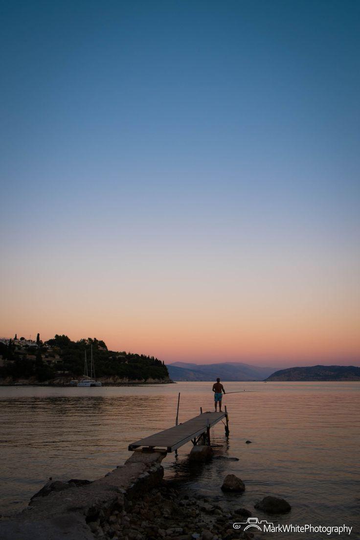 Evening Fisherman - Kalami, Corfu, Greece.  Shot with Fujifilm X-E1 by Mark White