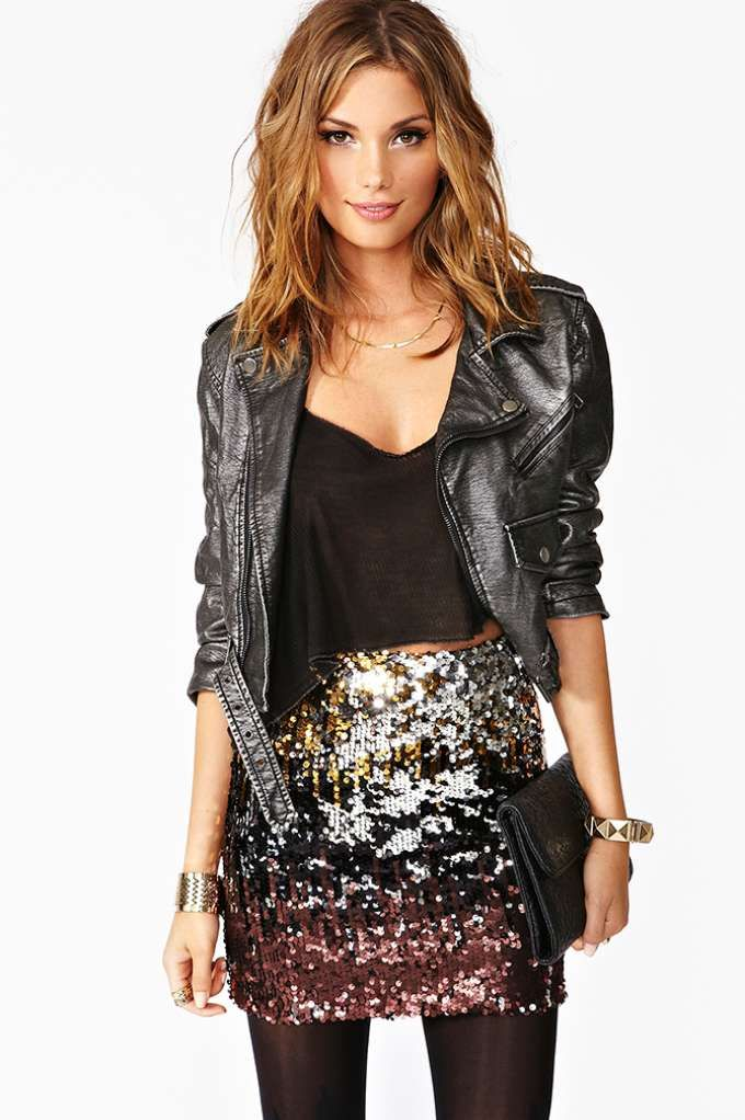 Dripping In Sequins Skirt